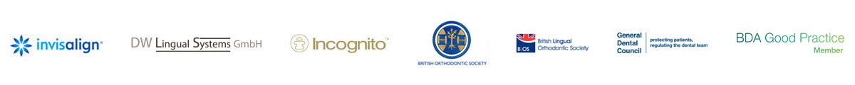 Invisalign, DW Lingual Systems GmbH, Incognito, British Orthodontic Society, British Lingual Orthodontic Society, General Dental Council, BDA Good Practice Member