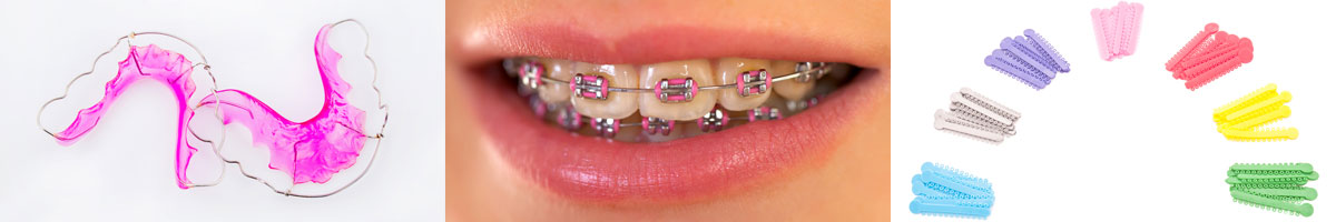 Various visible braces